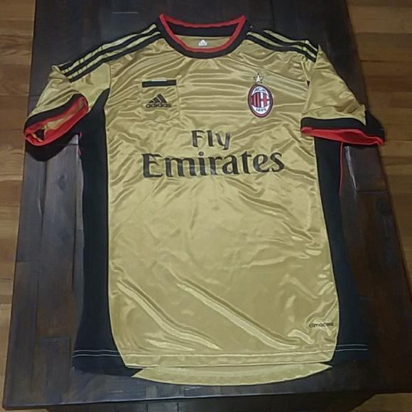 huge selection of 10864 7203b AC Milan Away Gold Soccer Jersey